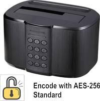 USB 3.0 SATA merevlemez dokkoló állomás, hozzáférés elleni védelem, Renkforce Renkforce