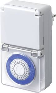 Mechanikus, kültéri napi időkapcsoló óra konnektorba, 3680W, IP44, Brennenstuhl 1506170 Brennenstuhl