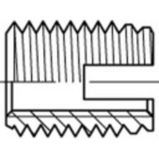 TOOLCRAFT ENSAT menetes betét, acél, galvanikusan horganyzott, sárga króm, M4 50 db 159829