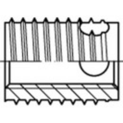 TOOLCRAFT ENSAT menet betétek Acél, elektrolitikusan horganyzott, sárgára krómozott M4 6 mm 100 db 159846