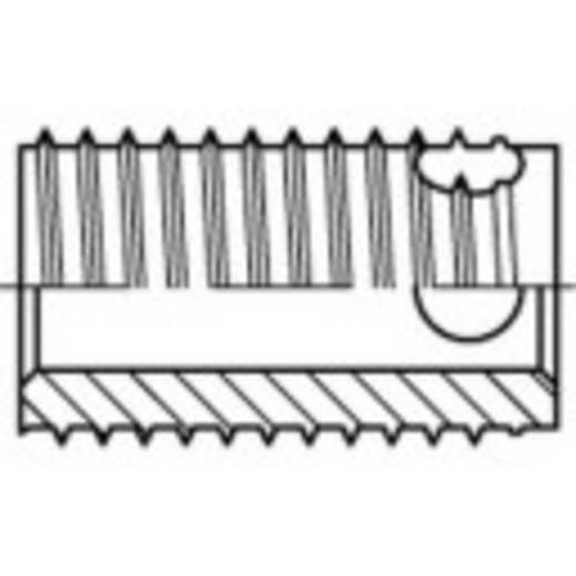 TOOLCRAFT ENSAT menet betétek Acél, elektrolitikusan horganyzott, sárgára krómozott M4 8 mm 100 db 159852