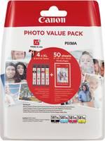Canon Tinta CLI-581XL Photo Value Pack CMYK Eredeti Fénykép fekete, Cián, Bíbor, Sárga 2052C004 Canon