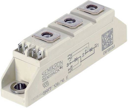 Tirisztor/dióda modul, SEMIPACK® 1, I(T) 106 A, U(DRM) 1600 V, SEMIPACK® Semikron SKKT106/16E