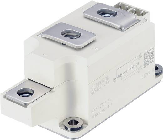 Tirisztor/dióda modul, SEMIPACK® 3, I(T) 323 A, U(DRM) 1200 V, SEMIPACK® Semikron SKKH323/12E