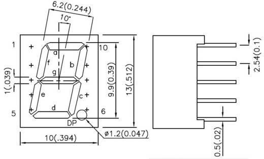 LED kijelző, SA39-11GWA, számjegy méret: 10MM