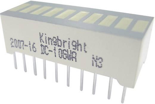 Kingbright 10-es bargraph LED-es kijelző, 25,4 x 10,16 mm, piros, DC-10RWA