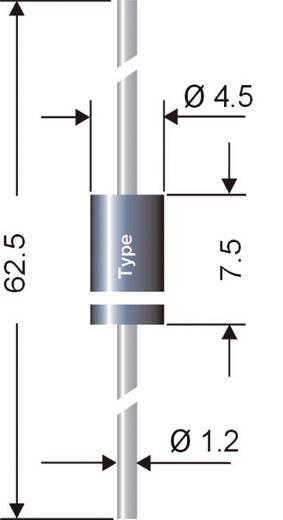 Schottky dióda, ház típus: DO-15, I(F) 1 A, I(F)(AV) 1 A , U(RRM) 50 V, SEMIKRON® Semikron SB150