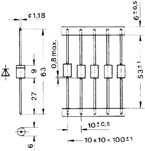 Lavina dióda, ház típus: E34, I(F) 1,8 A, záró feszültség: U(R) 1,3 kV Semikron SKa3/13