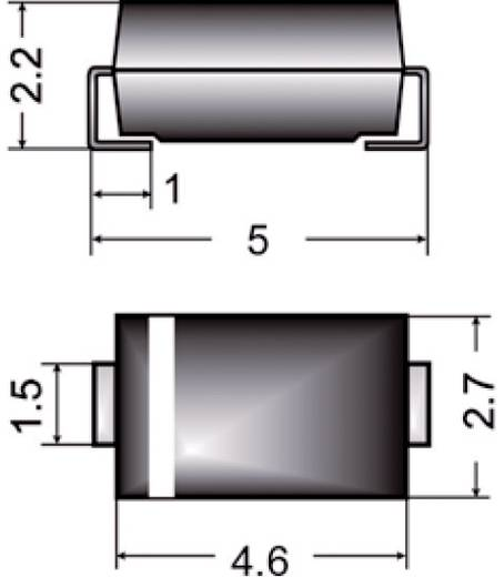 SMD dióda, ház típus: SMA, I(F) 2 A, zárófeszültség: U(R) 1 kV, Semikron US2SMAM