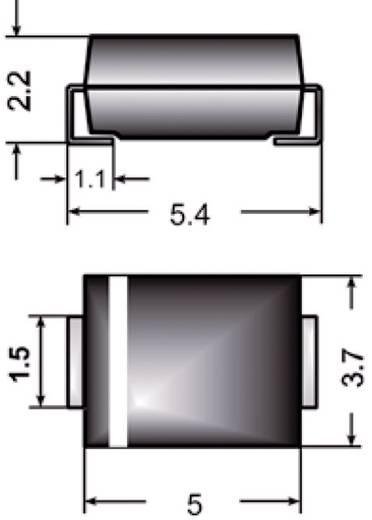 SMD Zener dióda, ház típus: SMB, P(tot) 2 W, Zenerfeszültség: 6,8 V, Semikron Z2SMB6.8