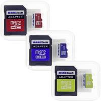 mikro SD kártya 16 GB Basetech Class 10 SD adapterrel 1 db Basetech
