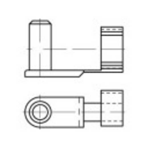 TOOLCRAFT Rugósan bepattintható csapszeg 32 mm Acél, galvanikusan horganyozott 5 db
