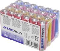 Alkáli mangán mikroelem készlet, AA, 24 db, Basetech Basetech