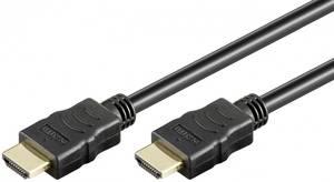 Goobay HDMI Csatlakozókábel [1x HDMI dugó - 1x HDMI dugó] 1.00 m Fekete Goobay