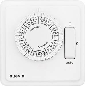 Suevia SU280440 Süllyesztett időkapcsoló óra Analóg Heti program 2200 W IP20 BE/AUTO/KI program (SU280440) Suevia