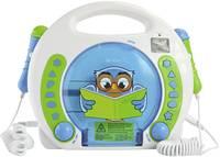 X4 Tech Bobby Joey Lese Eule Gyermek CD lejátszó USB, SD Mikrofonnal, Karaoke funkcióval Kék, Fehér X4 Tech