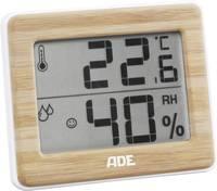 Digitális hőmérő és páratartalom mérő, fehér/bambusz, ADE WS 1702 (WS1702) ADE
