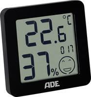 Digitális hőmérő és páratartalom mérő, fekete, ADE WS 1707 ADE