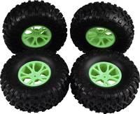 Reely 1:10 Buggy Komplett kerék Block-Profil Y-küllős Zöld 4 db Reely