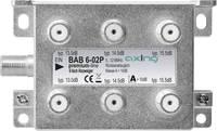 Axing BAB 6-02P Kábel-TV leágaztató 6 részes 5 - 1218 MHz Axing