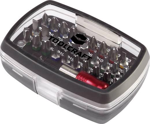 """Színkódos BIT készlet, mágneses bittartóval 5 féle csavarfejjel 1/4"""" (6.3 mm) Toolcraft 1613599"""