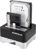 Merevlemez dokkoló állomás SATA USB 3.0 2 port Basetech BT-DOCKING-02 Klónozó funkcióval Basetech