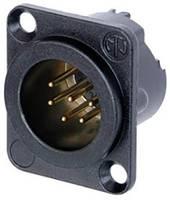 Neutrik XLR csatlakozó Peremes dugó, egyenes érintkezők Pólusszám: 6 Fekete 1 db Neutrik