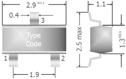 Dióda, ház típus: SOT-23, I(F) 200 mA, zárófeszültség: U(R) 85 V, Diotec BAS16