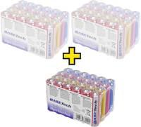 Alkáli mangán ceruzaelem készlet, 72 db, Basetech Basetech