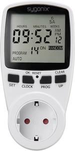 Digitális konnektoros időkapcsoló óra, heti program, időzítő, véletlen kapcsolás, Sygonix Tm2 1625525 Sygonix