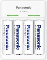 Panasonic BQ-CC61 Hengeres akku töltő Akkukkal NiMH Mikro (AAA), Ceruza (AA) Panasonic