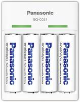 Panasonic BQ-CC61 NiMH Mikro (AAA), Ceruza (AA) Hengeres akku töltő Akkukkal (52061042) Panasonic