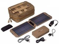 Napelemes akkutöltő és powerbank, 1000 mA 5 W, Power Traveller Powerbank Solar Extreme Tactical PTL-EXT001 TAC Power Traveller