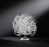WOFI 8366.01.70.7000 LED-es asztali lámpa 10 W Ezüst WOFI