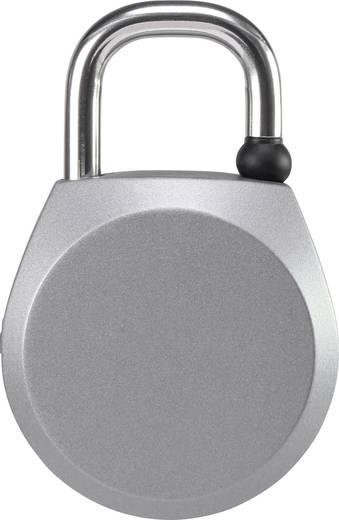 Függő lakat ujjelnyomatos zárral 48 mm ezüst, Sygonix 1629426