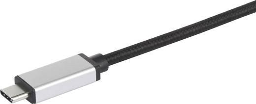 USB 3.1 kábel, 1x USB C dugó - 1x USB 3.0 alj A, ezüst, Renkforce