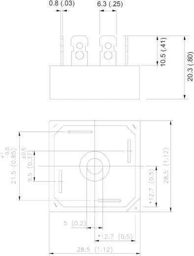 Egyenirányító 1 fázisú, ház típus: D-34A, névleges áram: 35 A, U(RRM) 800 V, Vishay 36MB80A