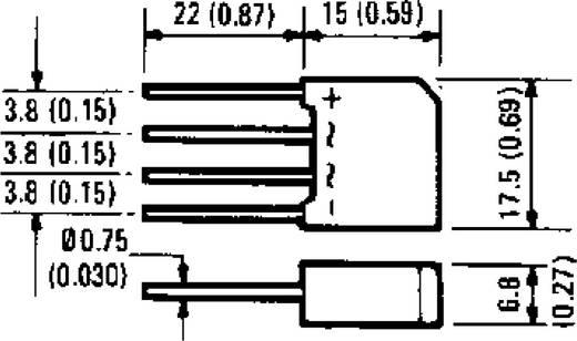 Dióda/egyenirányító, ház típus: D-44, névleges áram: 2 A, U(RRM) 400 V, International Rectifier 2KBP04