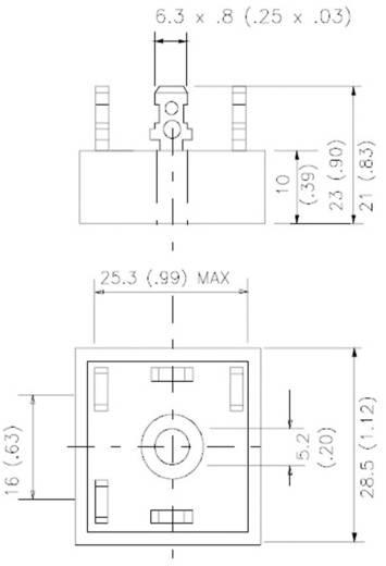 3 fázisú híd egyenirányító, ház típus: D-63, névleges áram: 35 A, U(FM) 1 V, U(RRM) 1600 V, Vishay 36MT160PBF
