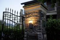 LED-es kültéri fali lámpa 8 W,, melegfehér,, sötétszürke, Polarlite Spot 8 Polarlite