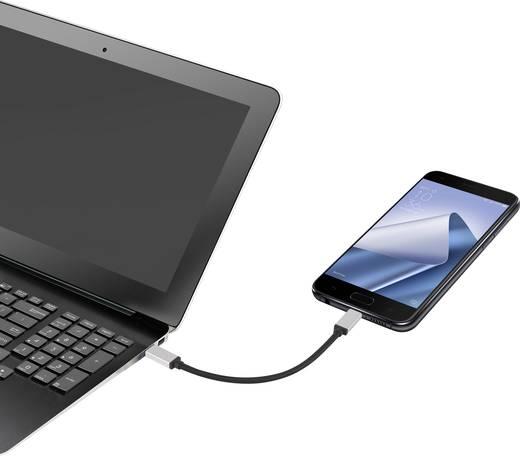 USB 3.1 kábel, 1x USB-C dugó - 1x USB-C dugó, 0,15 m, ezüst, Renkforce