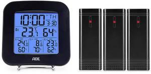 Vezeték nélküli hő- és páratartalom mérő 3 érzékelővel ADE WS 1823 (WS 1823) ADE