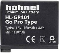 Hähnel GoPro Hero HD4, HL-GP401 Kamera akku Megfelelő eredeti akku AHDBT-401, 3661-1227 3.8 V 1160 mAh Hähnel