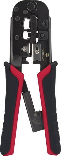 Krimpelő- és csupaszoló fogó, RJ11, RJ 12, RJ45, Toolcraft TO-4988583