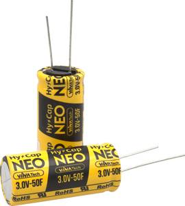 Super Cap kondenzátor, 1 F, 3V, (Ø x Ma) 8 x 13 mm, VINATech WEC3R0105QG VINATech