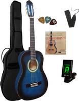 MSA Musikinstrumente C9 Set Clip Koncertgitár készlet 3/4 Kék Táskával MSA Musikinstrumente
