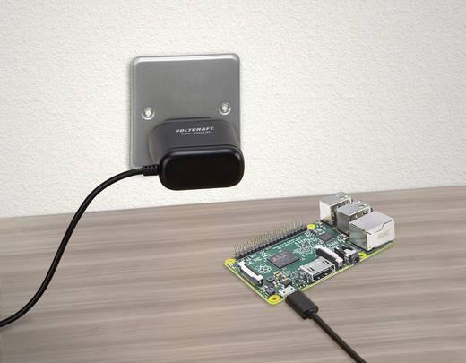 Dugasztápegység, fix feszültségű VOLTCRAFT SPS-2502/R VC-8371745 Aljzat dugó Kimeneti áram (max.) 2500 mA 1 x Mikro USB