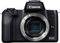 Canon EOS M50 Rendszer-fényképezőgép Ház, Akkuval 24.1 Megapixel Fekete 4k videó, Bluetooth, Kihajtható kijelző, Érintő Canon