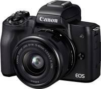 Canon EOS M50 EF-M 15-45 Kit Rendszer-fényképezőgép EF-M 15-45 mm IS STM Ház, Akkuval, Standard zoom objektívvel 24.1 Me Canon
