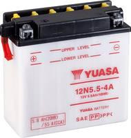 Motorkerékpár elem Yuasa 12N5.5-4A 12 V 5.5 Ah A következő modellekhez Motorkerékpárok, Motoros rollerek, Quadok, Jetski Yuasa